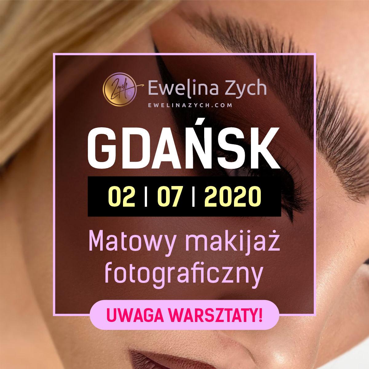 WARSZTATY GDAŃSK – Matowy makijaż fotograficzny i elementy fotografii dla wizażystów (POKAZ+PRAKTYKA).