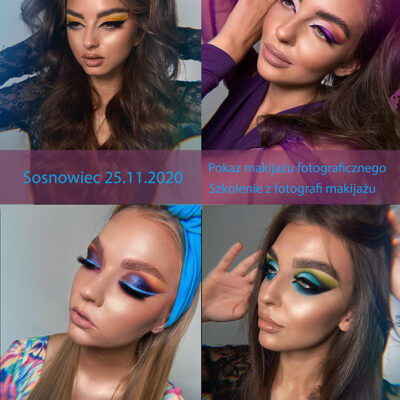 Pokaz makijażu fotograficznego. Szkolenie z fotografii makijażu. Sosnowiec 25.11.2020